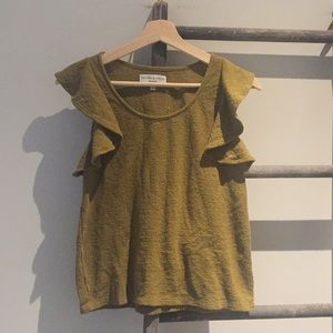 Madewell texture and thread top sz S olive